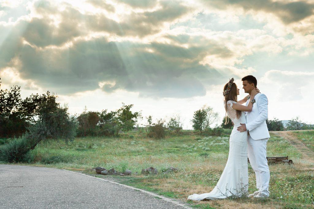 Esküvői fotózás - Skanzen - napfényes pillanat