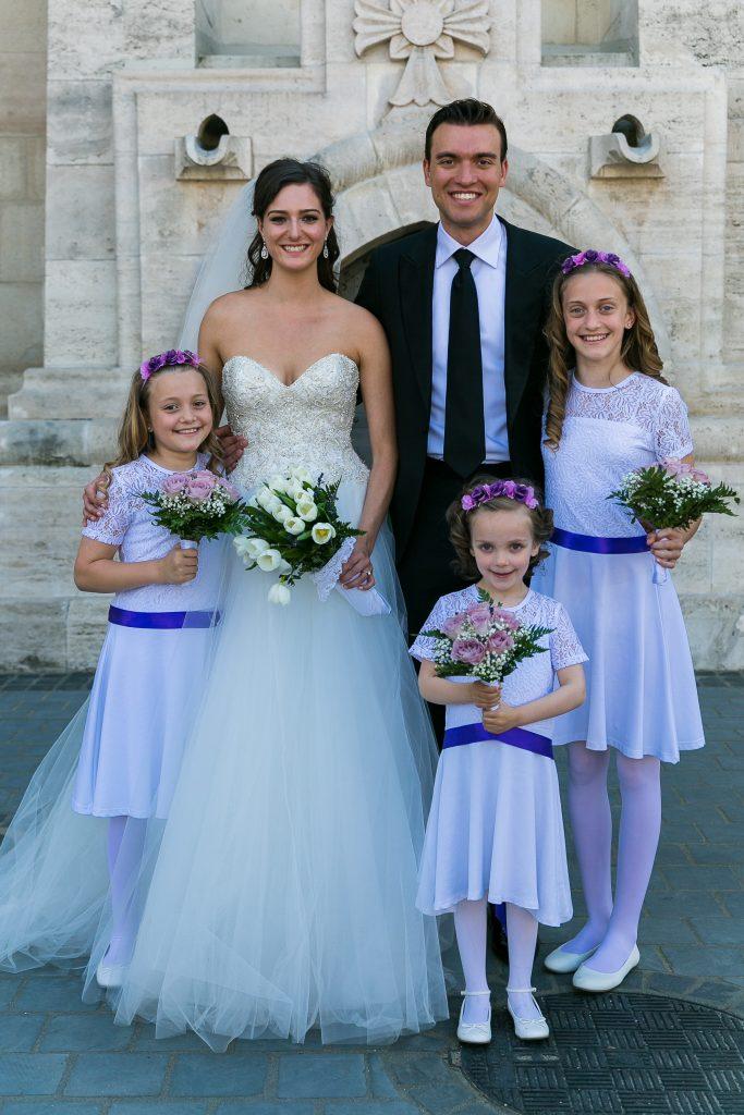 Mátyás templom esküvői csoportkép - Birta Fotó